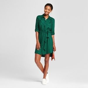 cbb769aa1e A New Day Dresses - A New Day Gingham Shirt Dress Target Long Sleeve